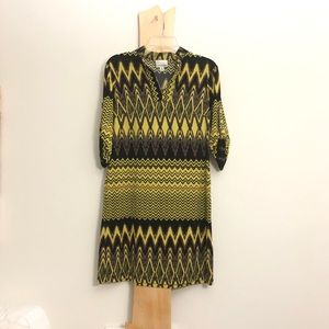 Donna Morgan Tribal Stripe Bohemian Shift Dress r
